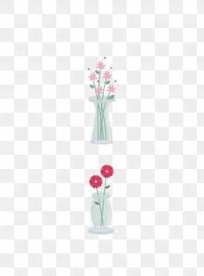 Vase Floral Design Vector Material - Petal Vase Floral Design Pattern PNG