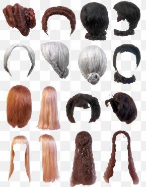 Hair Brush Set Effect - Wig Hair PNG