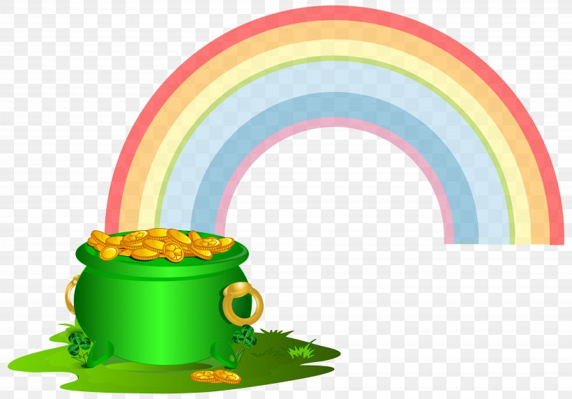 Gold Rainbow Clip Art, PNG, 8000x5587px, Rainbow, Clip Art, Gold, Gold Coin, Green Download Free