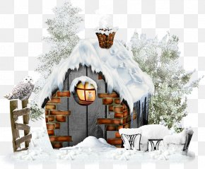 Winter Snow-covered House - Snow Winter PNG