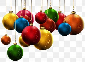 Hanging Christmas Balls Clip-Art Image - Christmas Ornament Clip Art PNG