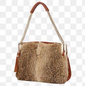 Plush Chain Shoulder Bag - Tote Bag Leather Shoulder PNG