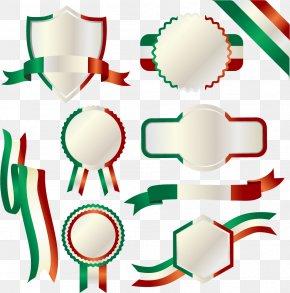 Italian Flag Label - Flag Of Italy Italian Cuisine PNG