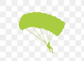 Exquisite Aesthetic Movement Parachute Silhouette Figures - Parachute Silhouette Illustration PNG