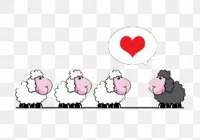 Black And White Sheep Cartoon Background Vector Material - Sheep Cartoon Livestock PNG
