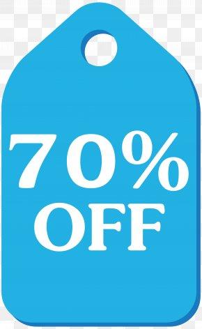 Blue Discount Tag Clip Art Image - Clip Art PNG