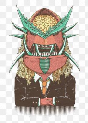 Red Monster Mask - Monster Cartoon Red Illustration PNG