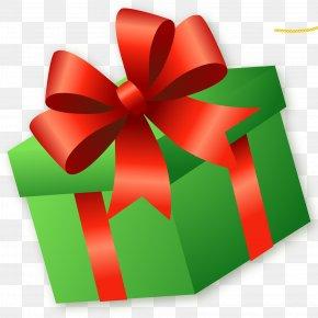 Gift - Gift Clip Art Green Box Ribbon PNG