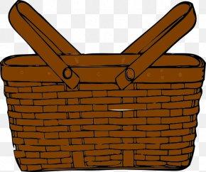 Empty Cliparts - Easter Basket Picnic Basket Clip Art PNG