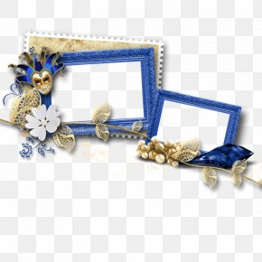 Exquisite Blue Frame - Picture Frame Clip Art PNG