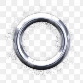 Badge - Silver Circle Wheel Metal PNG