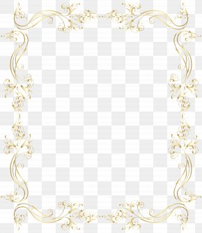 Floral Border Frame Gold Clip Art - Area Placemat Pattern PNG