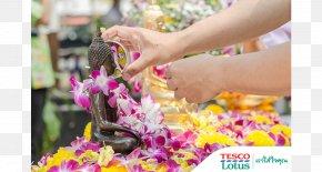 Songkran - Chiang Mai Songkran Buddharupa Water Flower PNG