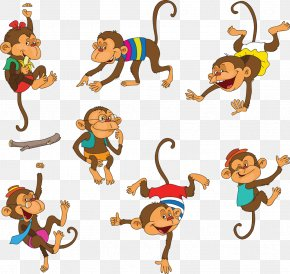 Cute Monkey Cartoon Pictures - Monkey Cartoon Download PNG