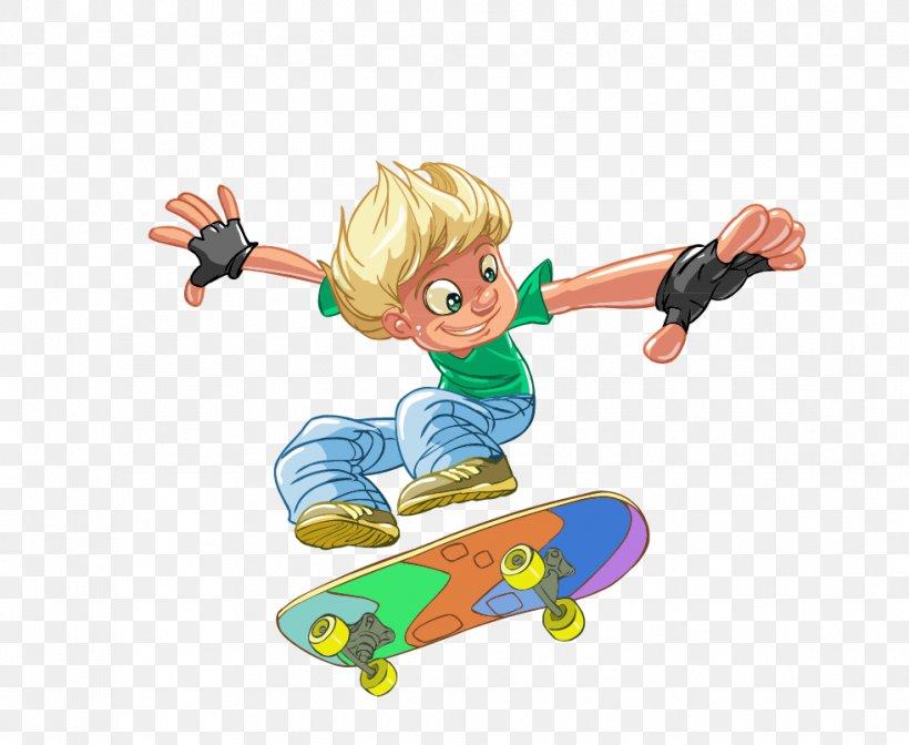 Пацан на скейте мультик
