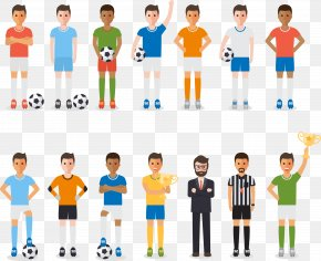 Vector Football Team Creative People - Football Player Football Team Association Football Referee PNG