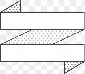 M Line Music Angle Pattern - Black & White PNG