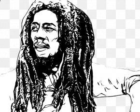 Bob Marley Pic - Bob Marley Black And White PNG