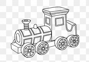 Train - Train Drawing Car Toy Coloring Book PNG