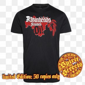 T-shirt - T-shirt Gildan Activewear Droogs Don't Run Skinhead Sleeve PNG