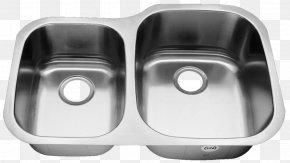 Stainless Steel Kitchenware - Kitchen Sink Kitchen Sink Material Stainless Steel PNG