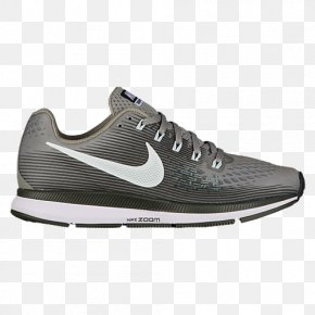 Gray Black Nike Shoes For Women - Nike Air Zoom Pegasus 34 Men's Sports Shoes Nike Air Zoom Pegasus 34 Women's Nike Zoom Pegasus 34 Older Kids' Running Shoe PNG