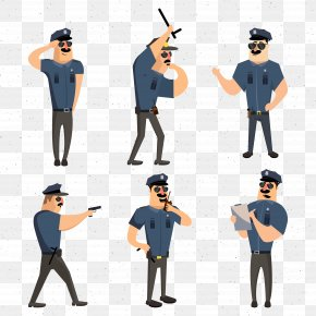 Police Material - Police Officer Cartoon Icon PNG