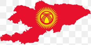 Map - Flag Of Kyrgyzstan Map National Flag PNG