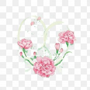 Blooming Peony Background - Carnation Cartoon PNG