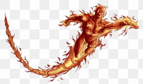 Human Torch Hd - Human Torch Invisible Woman Clip Art PNG