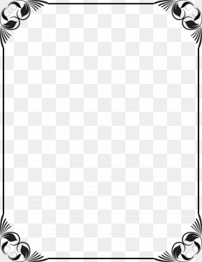 Frame Black And White - Picture Frames Black And White Clip Art PNG