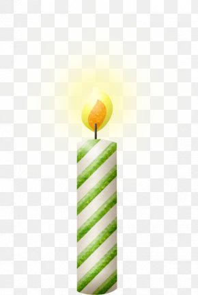 Green Candle Picture - Birthday Cake Candle Clip Art PNG