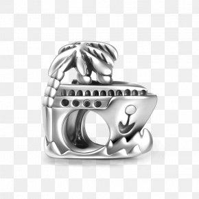 Silver - Earring Charm Bracelet Charms & Pendants Silver PNG