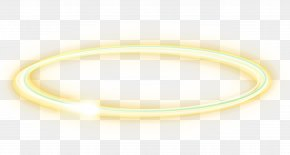 Yellow Light Effect Element - Bangle Material Yellow Circle PNG