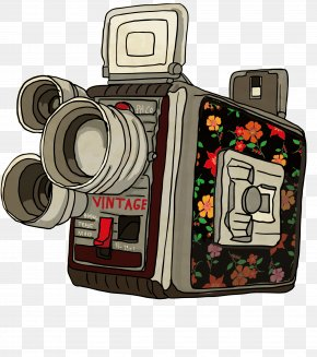 Retro Flower Camera - Video Camera PNG