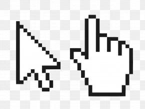 Mouse Cursor - Computer Mouse Pointer Cursor Pixel PNG