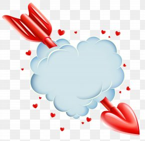 Cloud - Heart Love Valentine's Day Clip Art PNG