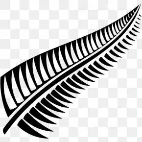 Fern Sedimentary Rock - New Zealand Silver Fern (Black) Computer File PNG