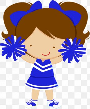 Blue Cheerleader Cliparts - Cheerleading Free Content Clip Art PNG