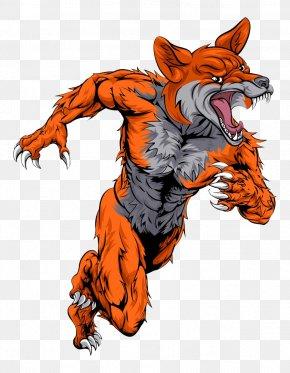 Running Werewolf - Mascot Fox Graphic Design Illustration PNG