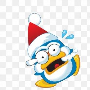 Penguin - Penguin Santa Claus Christmas Clip Art PNG