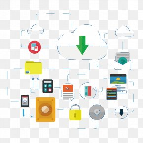 Creative Cloud Download Element - Cloud Storage Hard Disk Drive Cloud Computing Download PNG