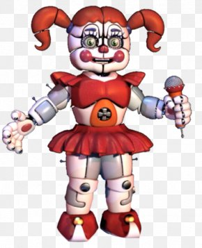 Sister - Five Nights At Freddy's: Sister Location Circus Infant Clown Jump Scare PNG