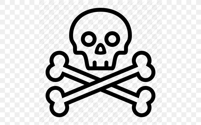 Skull And Bones Skull And Crossbones Drawing, PNG, 512x512px, Skull And Bones, Area, Black And White, Bone, Brand Download Free
