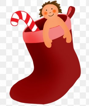 Christmas Stockings - Santa Claus Christmas Stockings Candy Cane Clip Art PNG