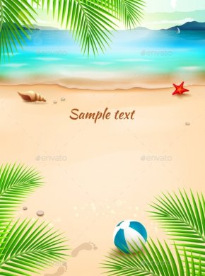 Beach Transparent Image - Beach Summer Illustration PNG