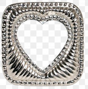 Silver Love Picture Frame - Picture Frame Photography Clip Art PNG