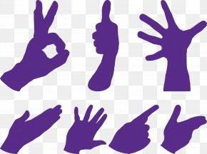 Gestures Vector Silhouette - Gesture Hand Clip Art PNG