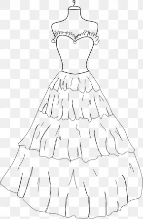 Dress - Coloring Book Dress Gown Drawing Clothing PNG