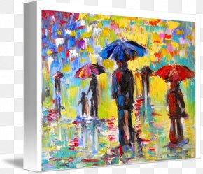 Rainy Day - Painting Fine Art Printmaking Modern Art PNG